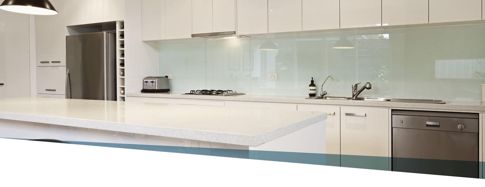 Schienali cucina in vetro