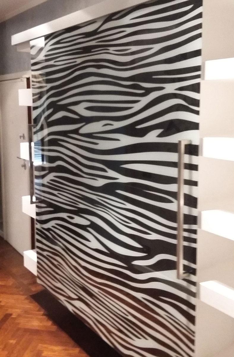 Porta in Vetro Decorata | VETRERIA GBM